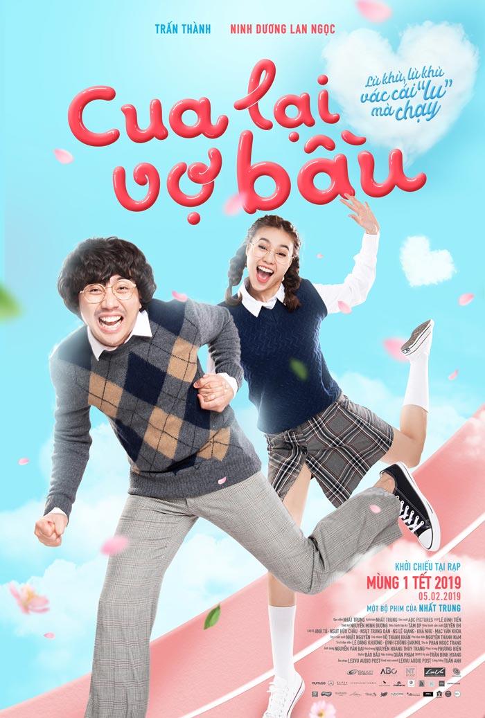 cua lai vo bau trailer poster 2d4f6c Trấn Thành và Lan Ngọc nảy sinh chuyện tình thời sinh viên trong phim Tết   Cua Lại Vợ Bầu